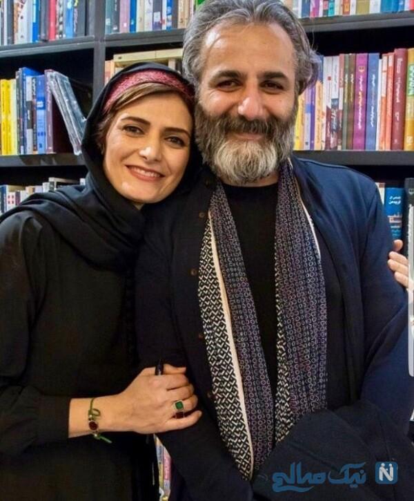 مهسا ملک مرزبان و همسرش علی باقری