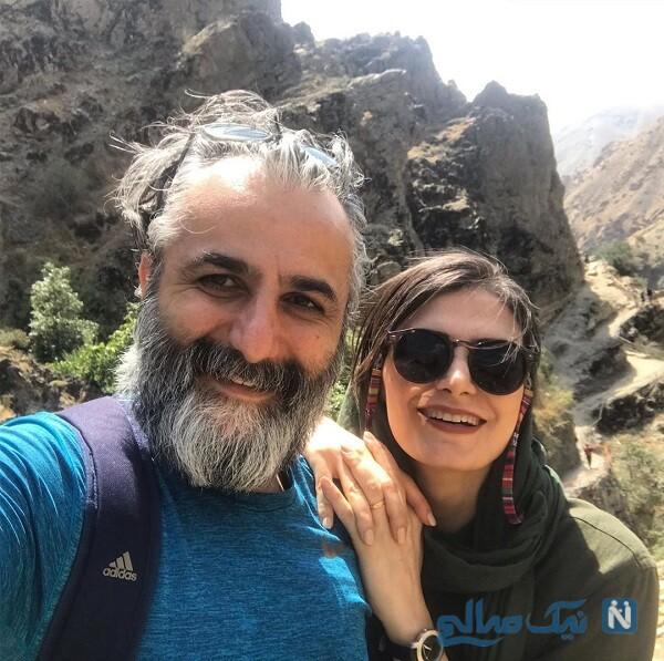 کوهنوردی خانم ملک مرزبان با همسرش