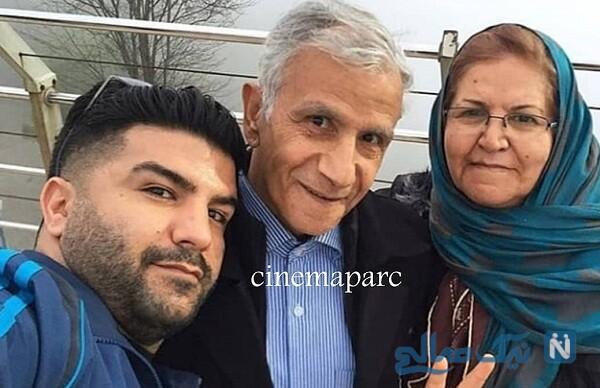 مجید خراطها درکنار پدر و مادرش
