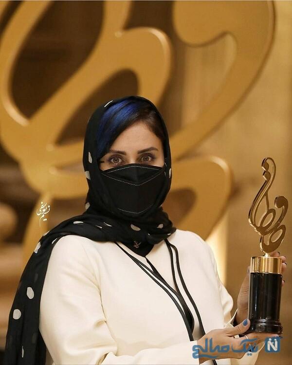 خانم بازیگر در جشن حافظ