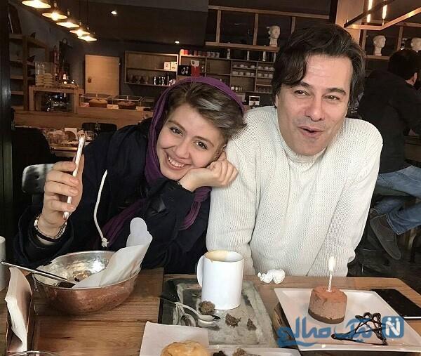 پیمان قاسم خانی و دخترش