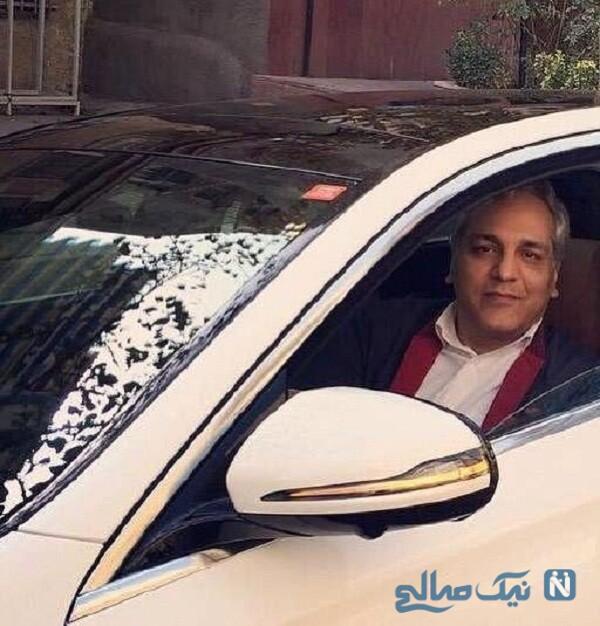 تصویری از ماشین لاکچری مهران مدیری
