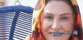 مینا نوروزی بازیگر ایلدا به همراه مادرش در پشت بام