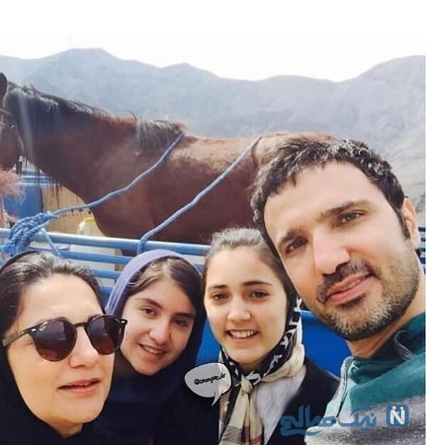 محمدرضا فروتن و خواهرش درکنار خواهرزاده هایش