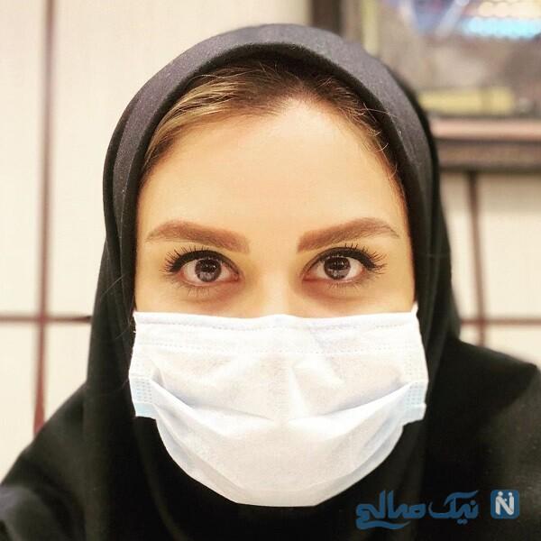 مجری زن با ماسک