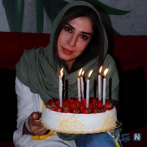 جشن تولد نسیم ادبی با کیک خاص