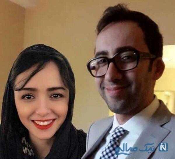 ترانه علیدوستی و همسرش