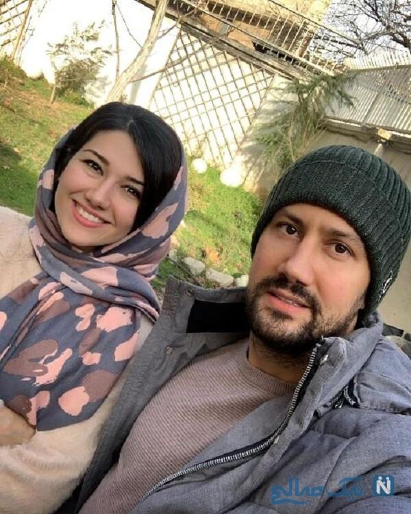 نیلوفر استخری بازیگر ایرانی و برادرش