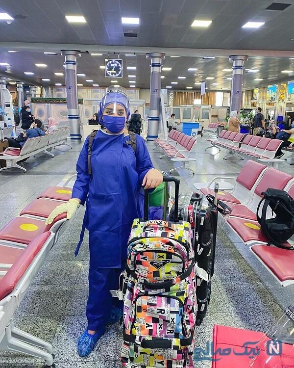 نیروانا قاسم خانی در فرودگاه مهرآباد