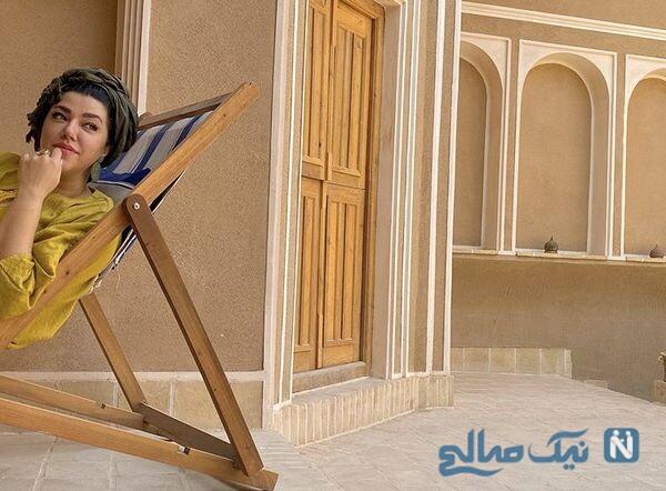 عکس جدید همسر شهاب حسینی