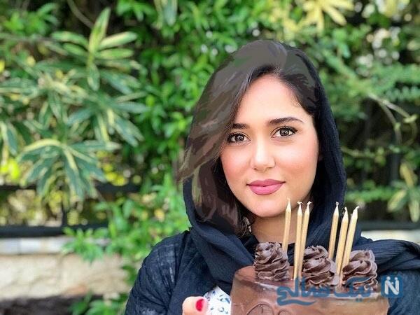 کیک تولد خاص خانم بازیگر