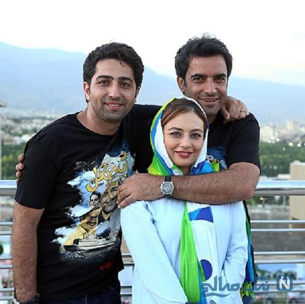 علی سخنگو درکنار منوچهر هادی و همسرش