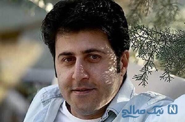 هومن حاجی عبداللهی بازیگر پایتخت در گالری نقاشی دوستش