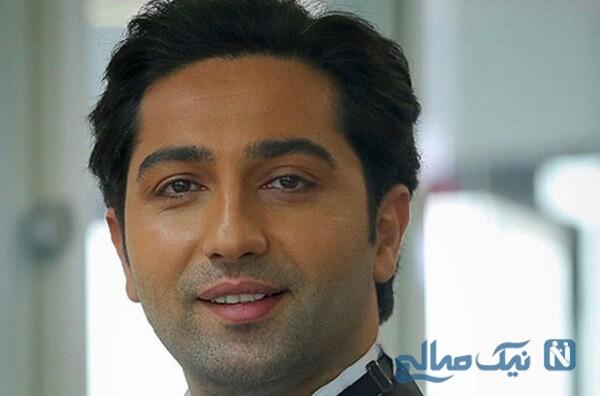 سلفی علی سخنگو بازیگر ۳۷ ساله سریال دل با کیک تولدش