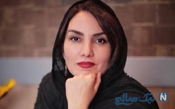 مرجان شیر محمدی بازیگر فروغ در سریال زمین گرم و همسرش