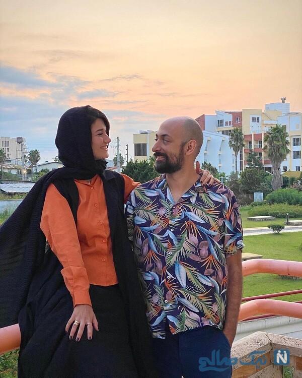 عکس های نیلوفر استخری و همسرش