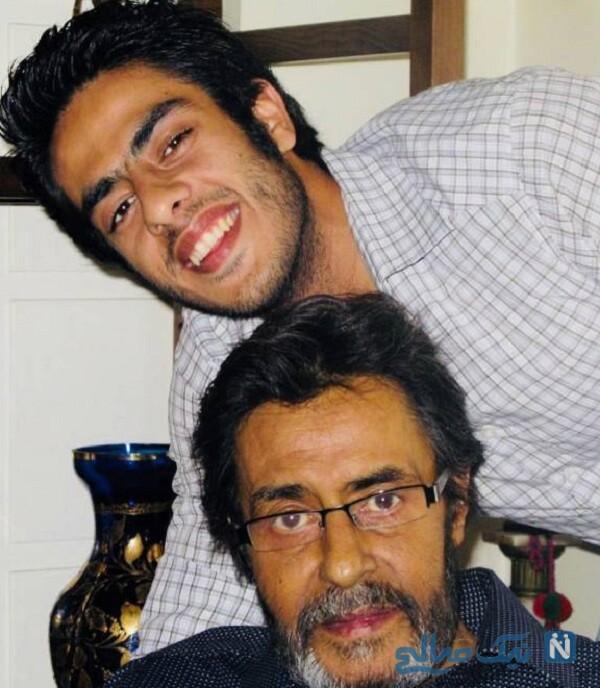 تصویری از پوریا شکیبایی و پدرش