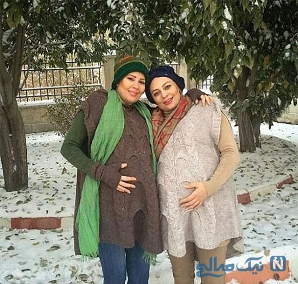 بارداری همزمان یکتا و نیکتا ناصر