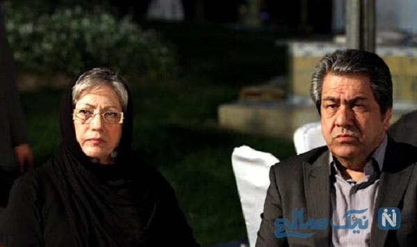 جهانگیر کوثری و همسرش
