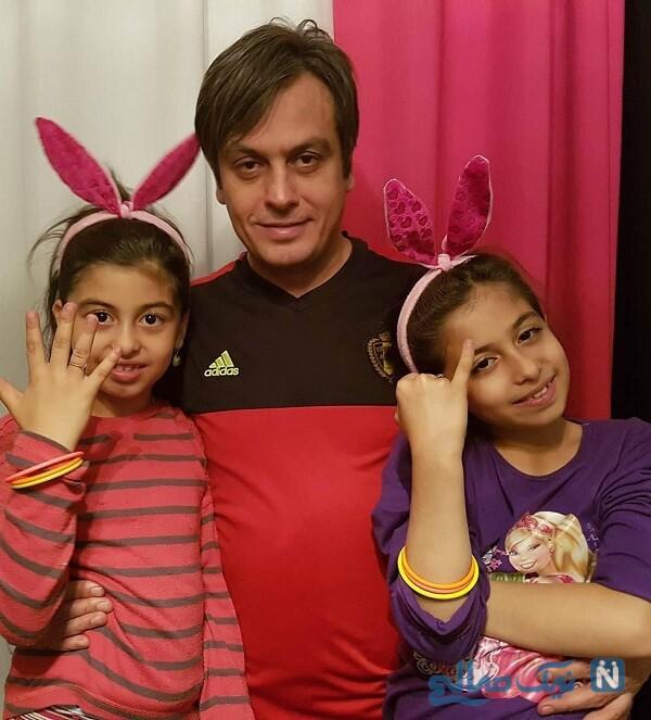 تصویری جالب از رضا شاهرودی و دخترانش