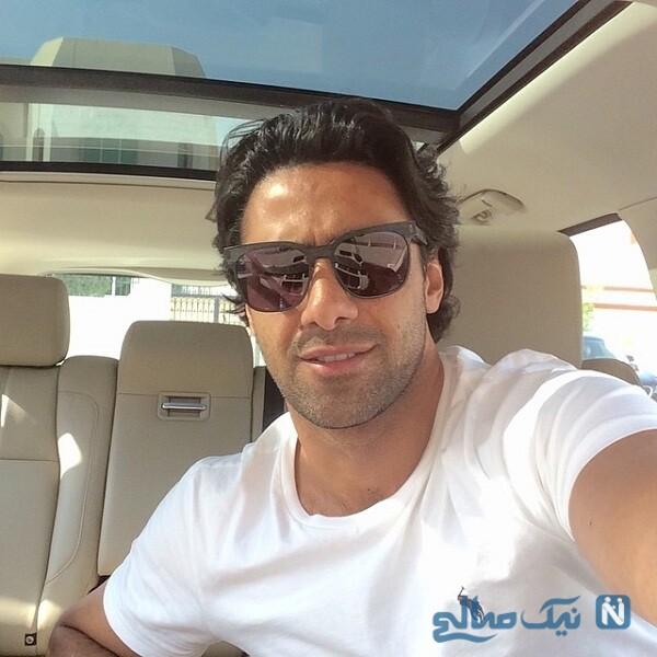 سلفی فرهاد مجیدی در خودرو شخصی اش