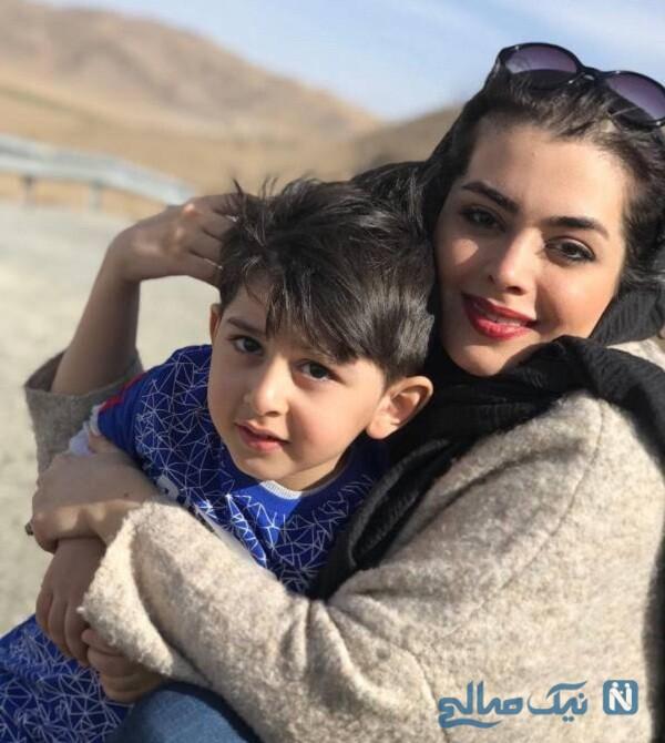 عکس جدید ساناز بیان و پسرش
