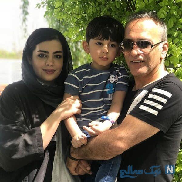 همسر و پسر حمیدرضا آذرنگ