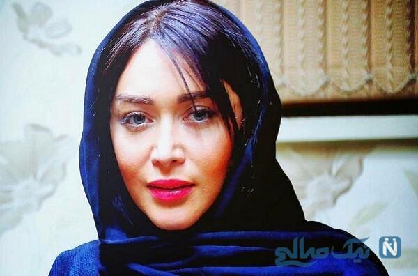 سارا منجزی بازیگر سینما با ماشین صورتی لاکچرای اش