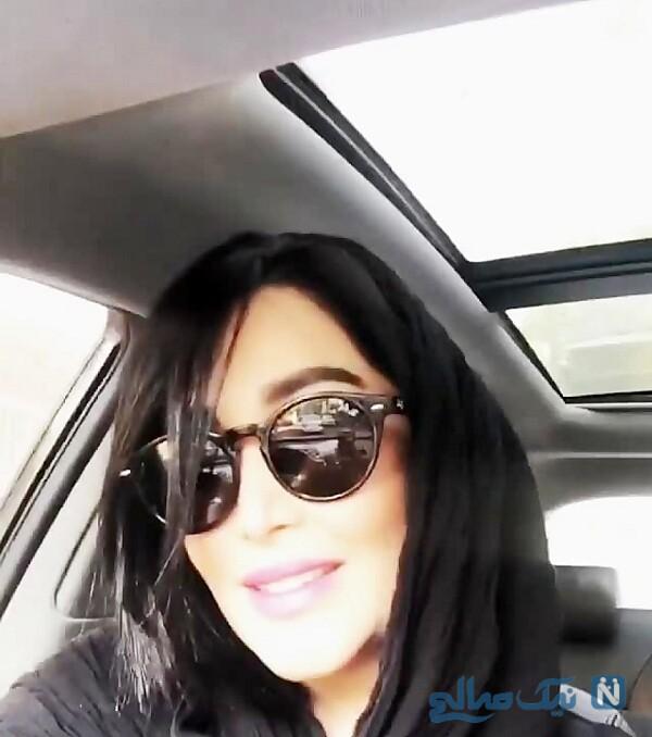 ماشین سارا منجزی بازیگر