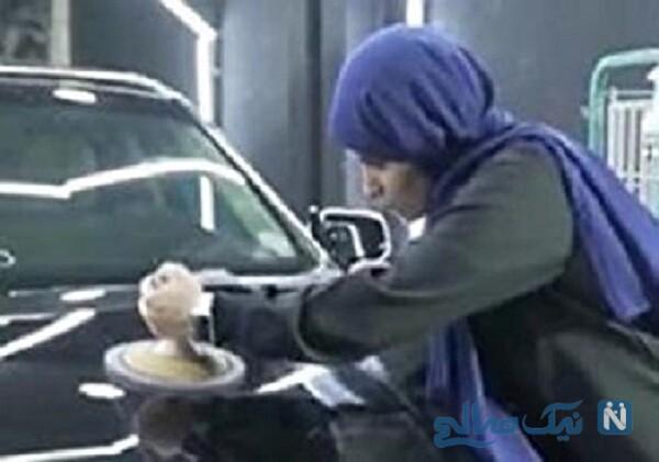اولین دختر عربستانی شاغل در صافکاری خودرو