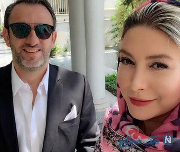 عکس سلفی فریبا نادری و همسرش