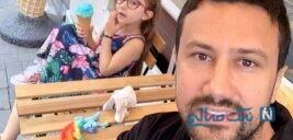 سلفی آسانسوری شاهرخ استخری و دخترش پناه با ماسک