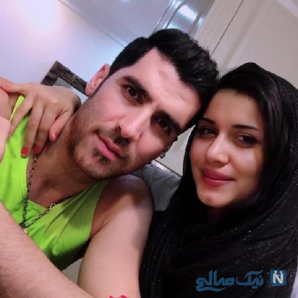 عکس جدید شهرام محمودی و همسرش