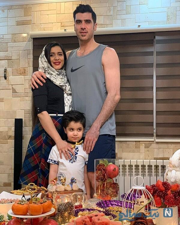 همسر و پسر شهرام محمودی
