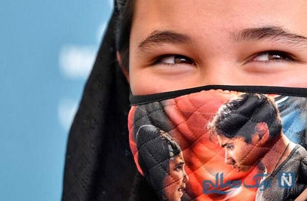 پوشش عجیب شمیلا شیرزاد بازیگر افغان در فرش قرمز ونیز
