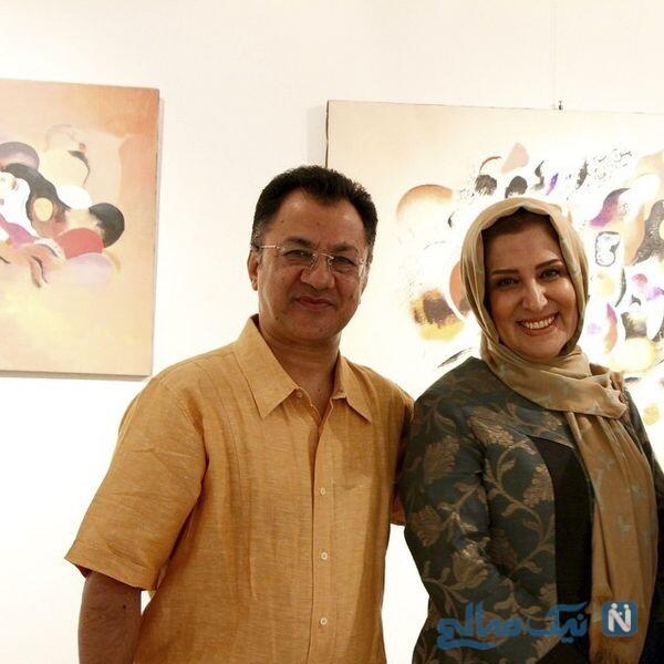 ژیلا امیرشاهی و همسرش