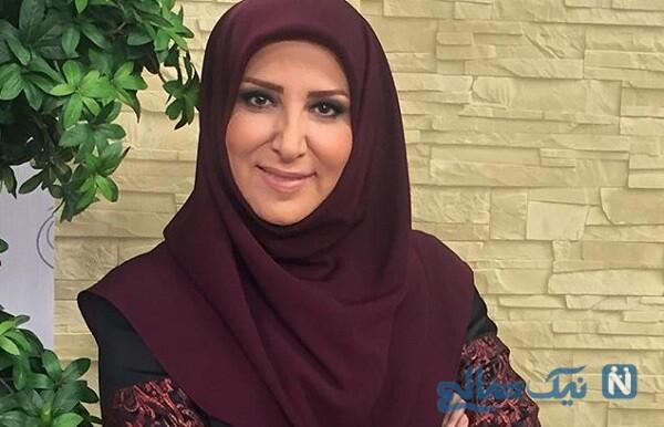ژیلا امیر شاهی مجری معروف در حرم امام رضا با چادر