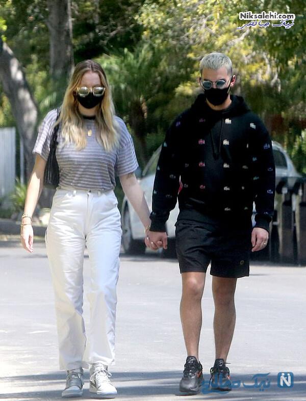 جو جوناس و همسرش