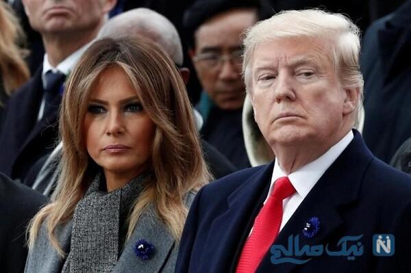ترامپ و همسرش