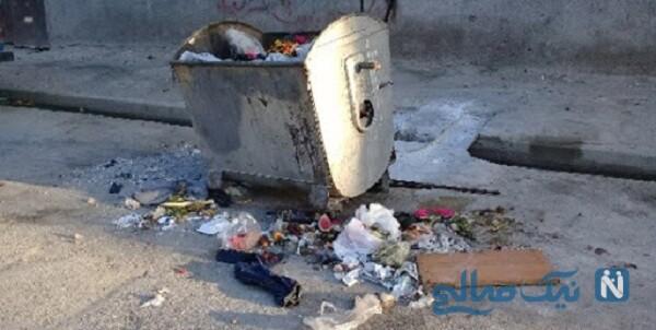 کشف جسد در سطل زباله