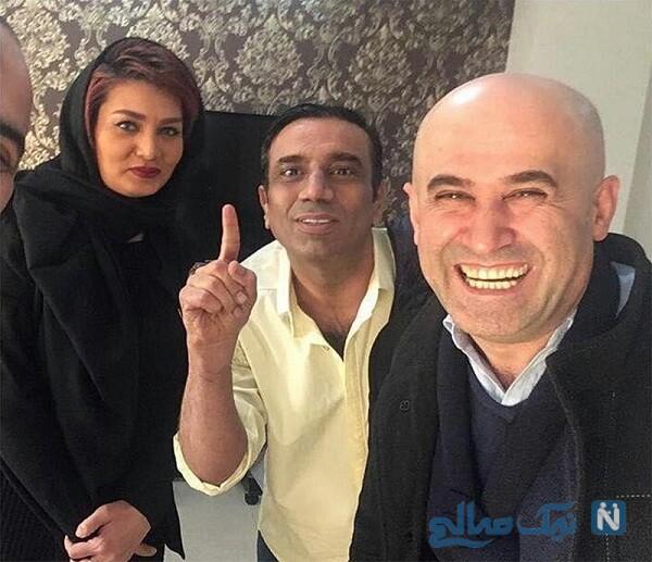 تصویری از تغییر چهره نصرالله رادش در کنار همسرش