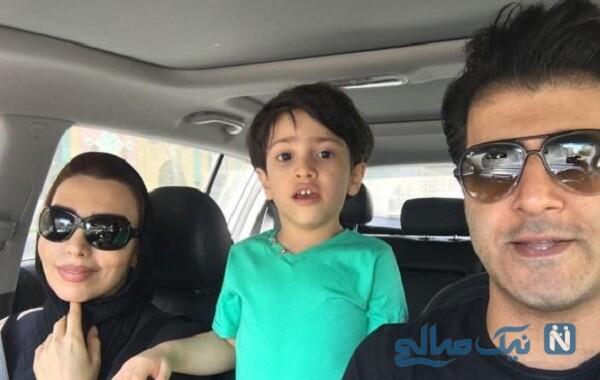 همسر و پسر هومن حاجی عبداللهی