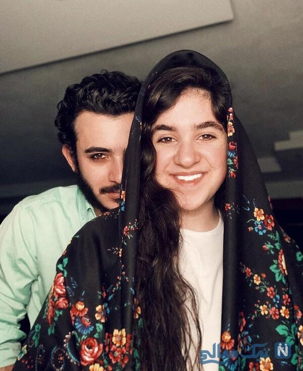 شباهت علی شادمان به خواهرش