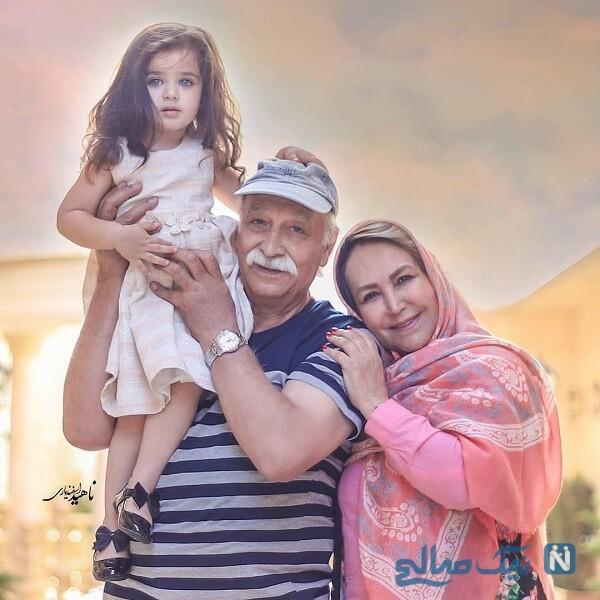 نوه محمود پاک نیت و همسرش