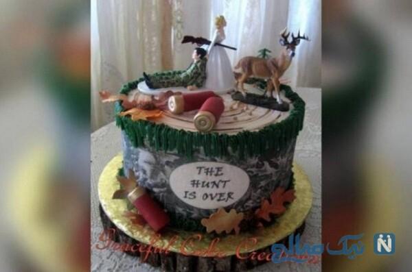 کیک عروسی جنجالی زوج آمریکایی