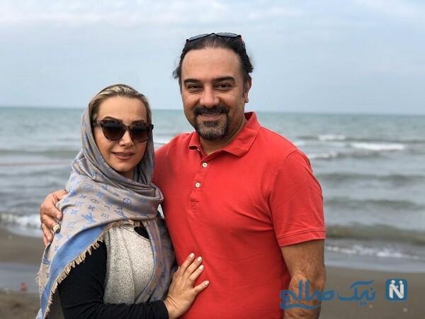 سالگرد ازدواج برزو ارجمند و همسرش