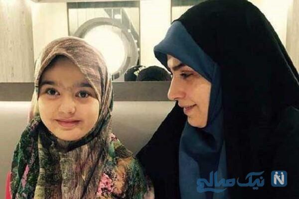 راحله امینیان مجری تلویزیون و دخترش