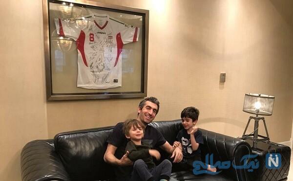 فوتبالیست سابق و فرزندانش