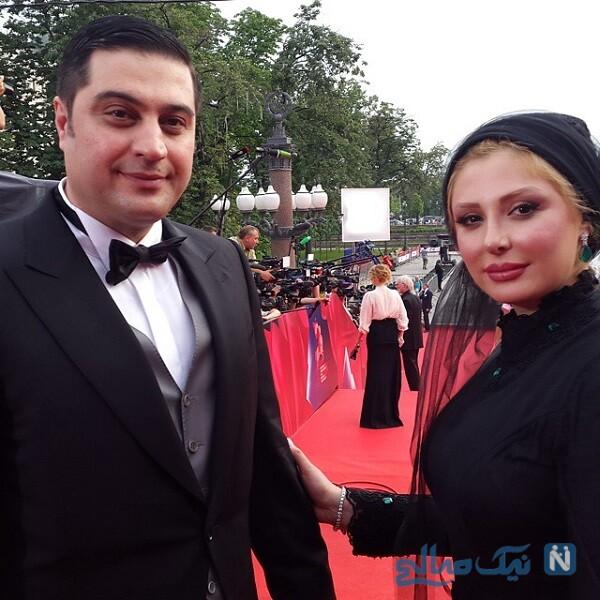 آرش پولادخان و همسرش