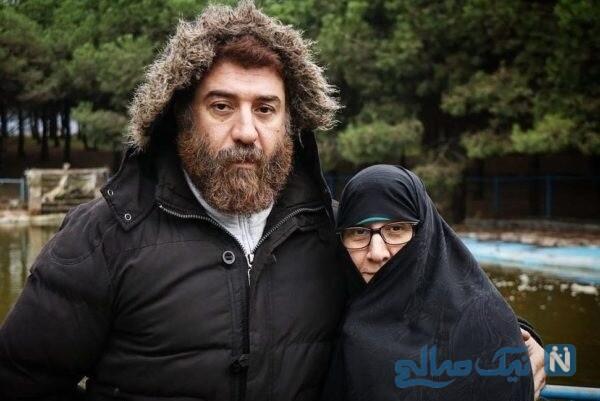 علی انصاریان با مادرش در طبیعت